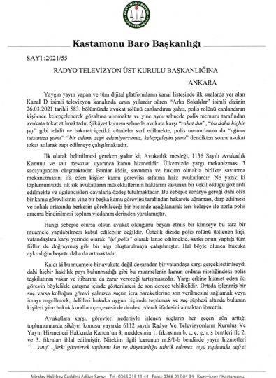 Avukatları Tahkir Eden Yayın Rtük'e İhbar Edildi
