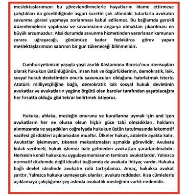 5 Nisan Avukatlar Günü Basın Açıklaması